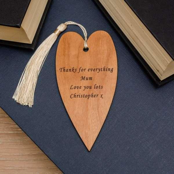 Personalised Heart Bookmark