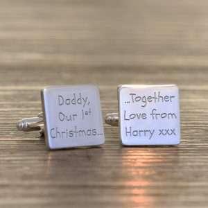 Daddy 1st Christmas Cufflinks