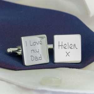 Personalised Cufflinks Dad