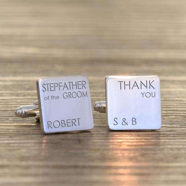 Stepfather Wedding Cufflinks