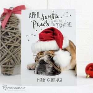 Personalised Bulldog Christmas Card