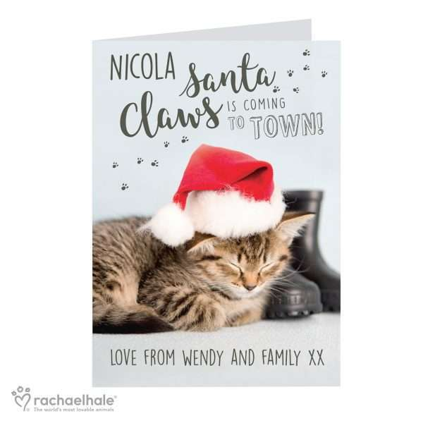 Personalised Christmas Cat Card