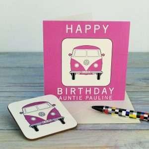 Personalised Camper Van Birthday Card