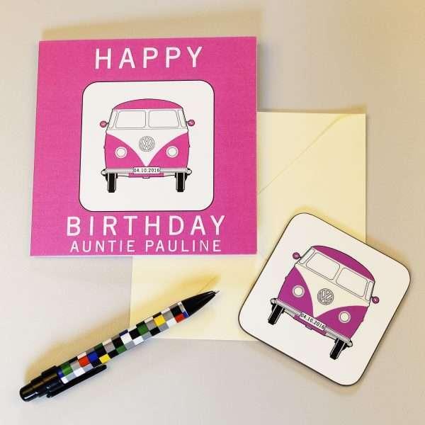 Camper Van Birthday Card
