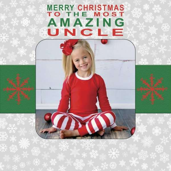Personalised Uncle Christmas Card
