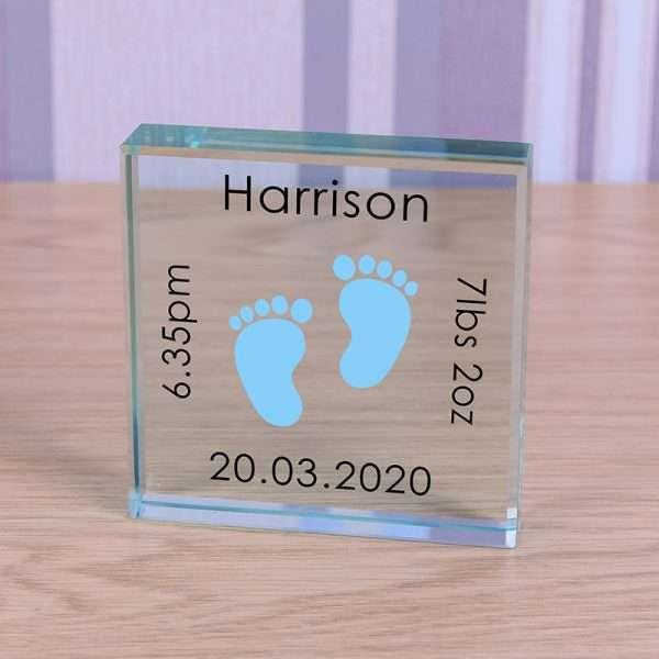 Personalised New Baby Boy Token Gift