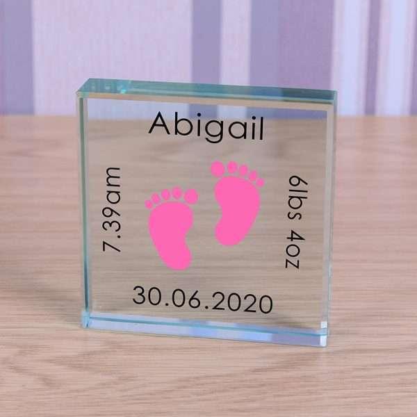 Personalised New Baby Girl Token