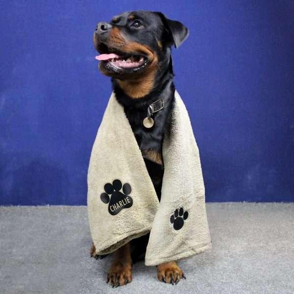 Personalised Microfibre Dog Towel