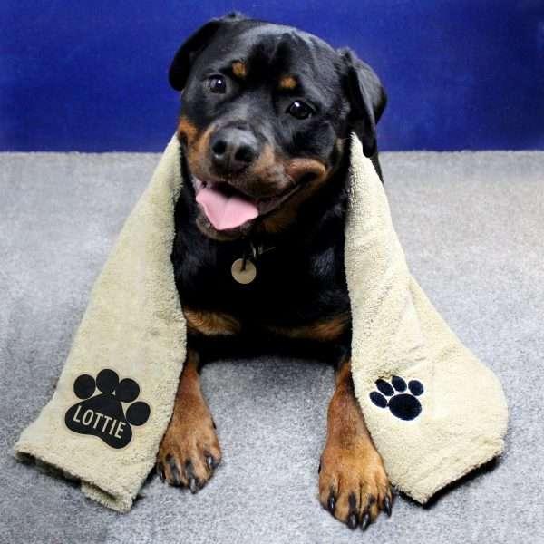 Personalised Soft Dog Towel