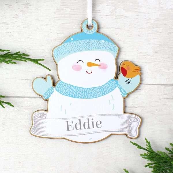 Personalised Snowman Decoration