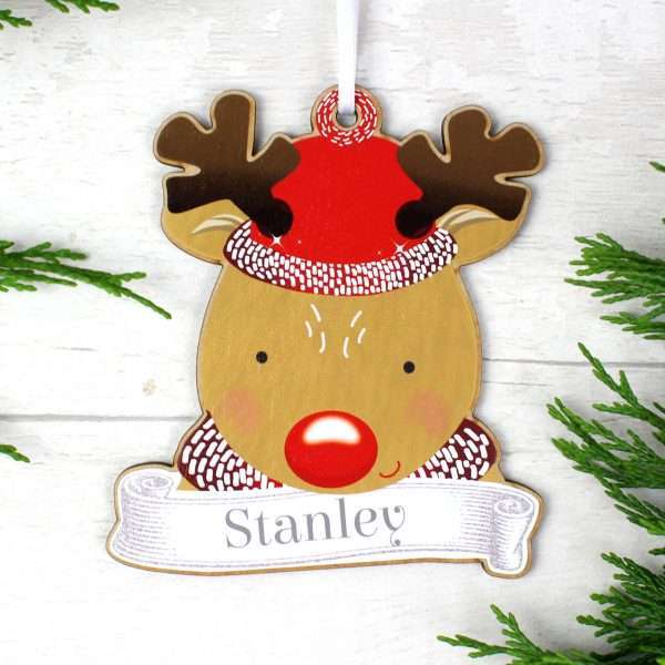 Personalised Rudolph Decoration