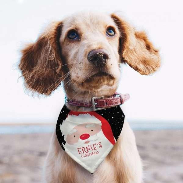 Personalised Christmas Dog Bandana