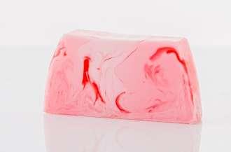 Raspberry Soap Slice