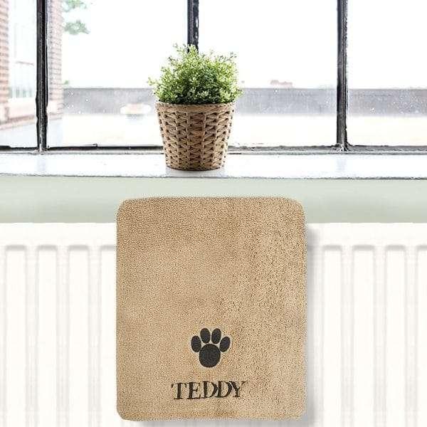 Personalised Dog Microfibre Towel