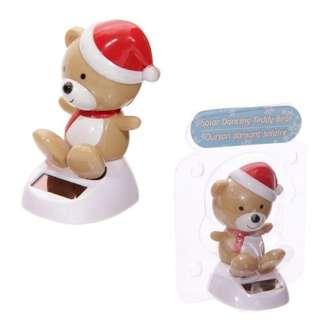 Solar Powered Christmas Bear