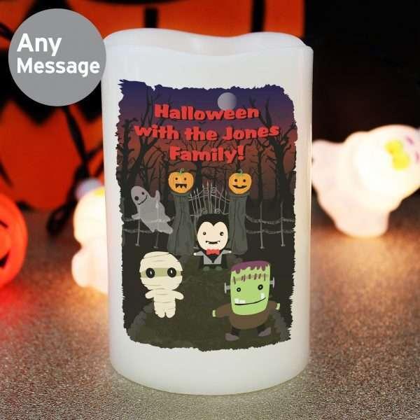 Happy Halloween LED Candle