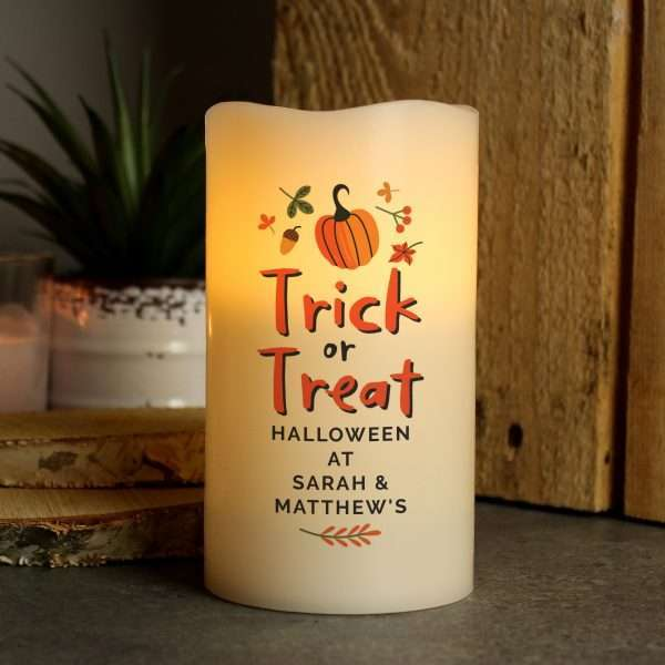 Personalised Trick or Treat Candle