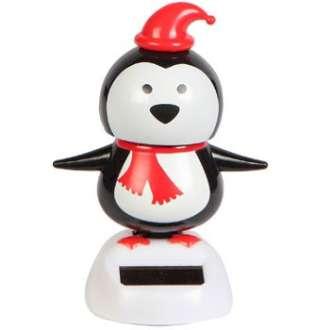 Solar Powered Christmas Penguin