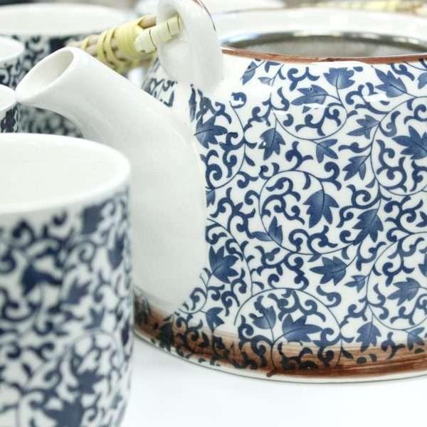 Blue & White Tea Set