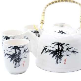 White Stone Oriental Teapot