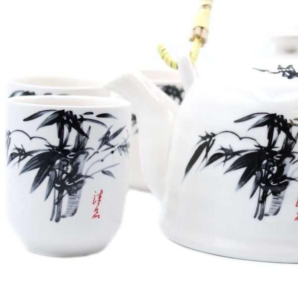 White Stone Oriental Tea Set