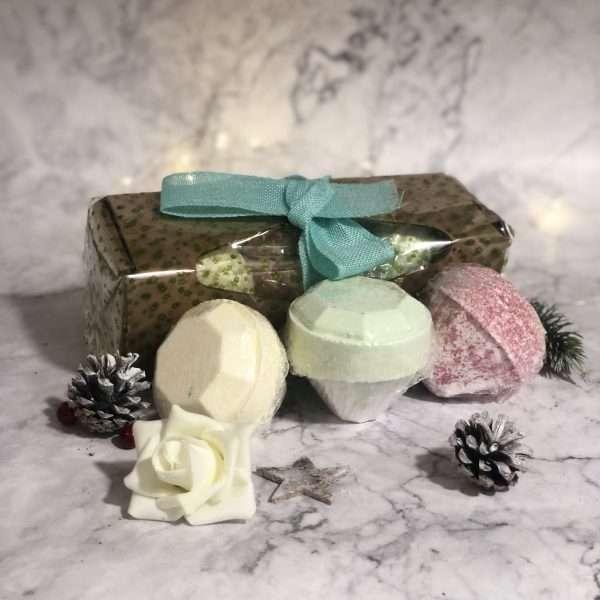 3 Gemstone Bath Bombs Gift Pack - Mix 2
